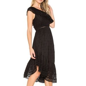 LoveShackFancy Pamela Asymmetric Ruffle Dress